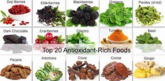 top 20 antioxidant rich foods
