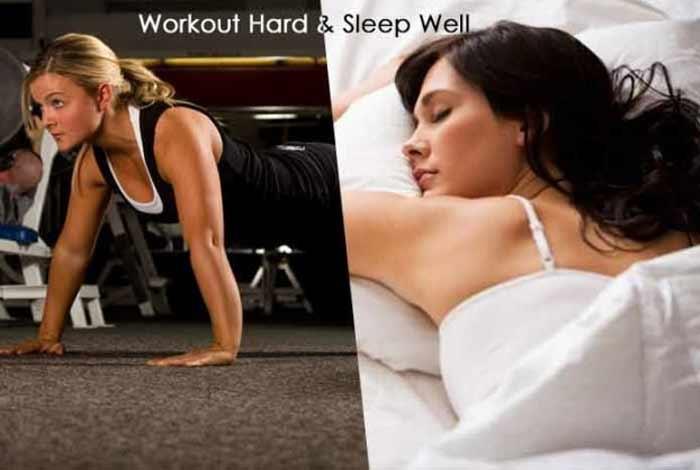 workout hard and sleep well