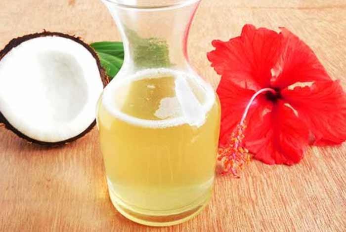 hibiscus and coconut oil mas