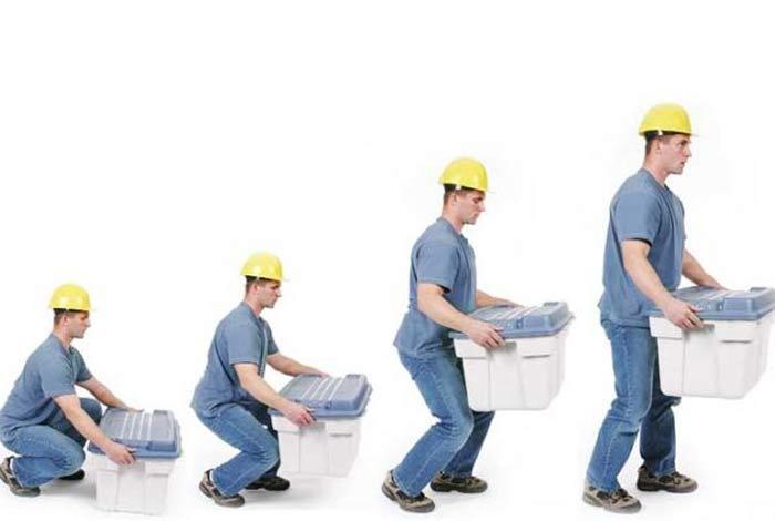proper lifting of load