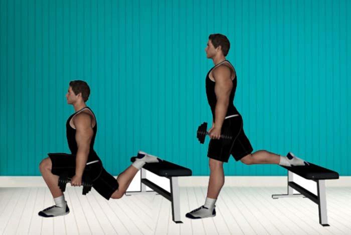 single leg box squats