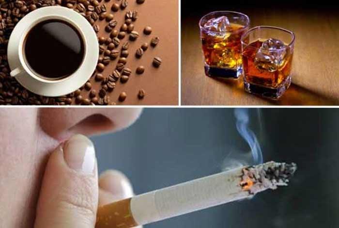 caffeine smoking alcohol and drugs