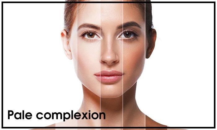 Pale complexion